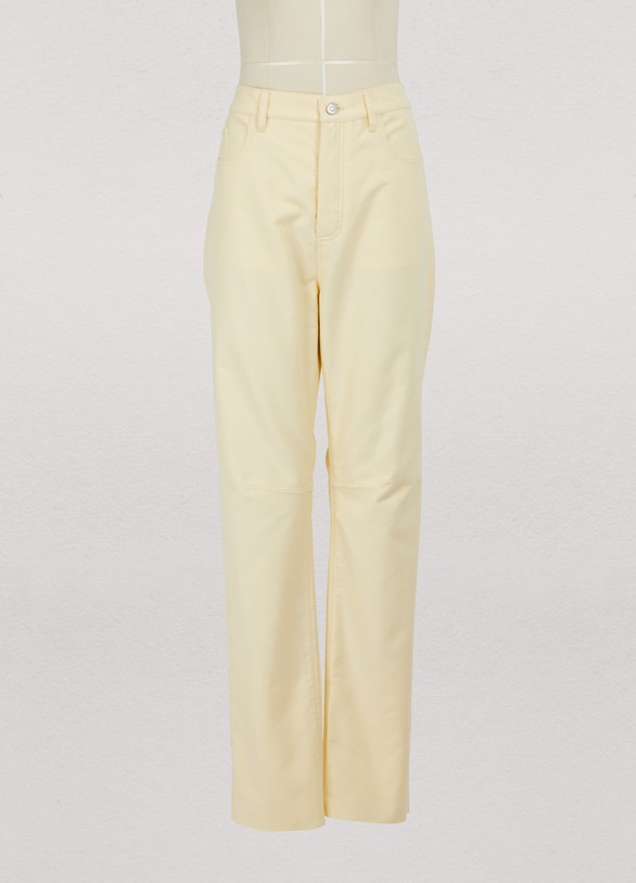 Céline Raw edge trousers in cotton moleskine