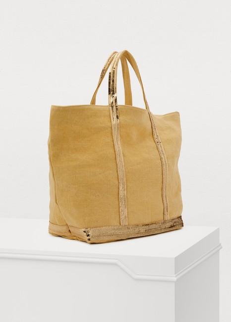 VANESSA BRUNOMedium+ leather cabas tote bag