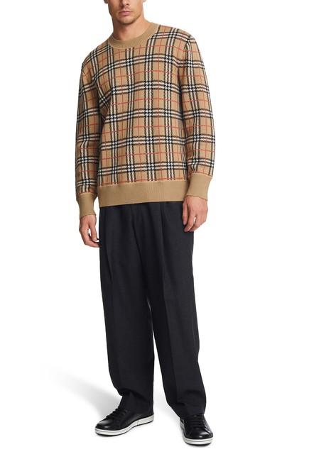 BURBERRYRound-neck merino wool sweatshirt
