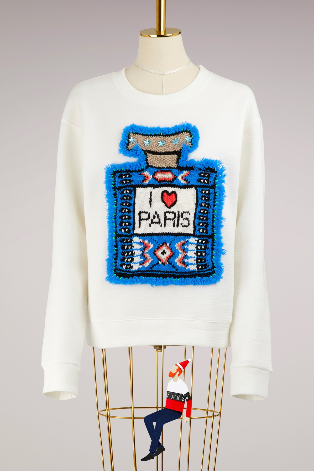 Sweat en laine merinos I love Paris