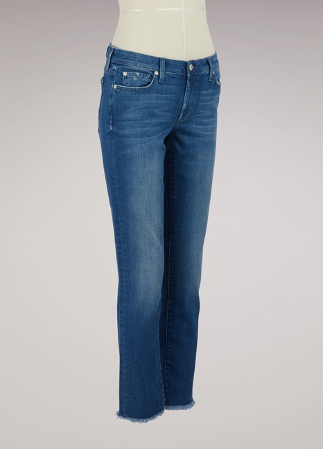 7 For All MankindRelaxed Skinny boyfriend jeans