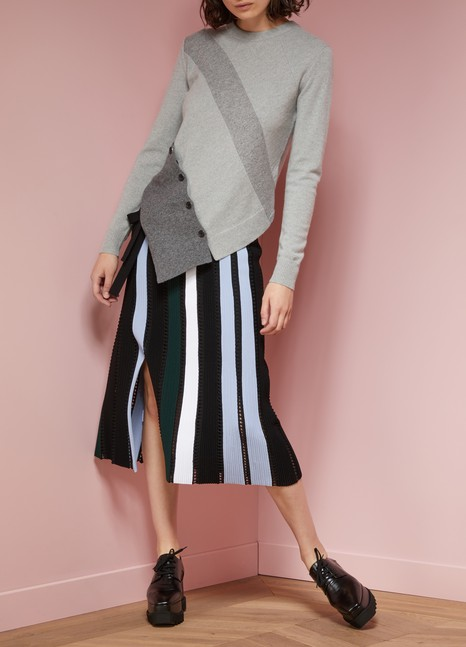 Proenza Schouler Asymmetrical wool and cashmere sweater