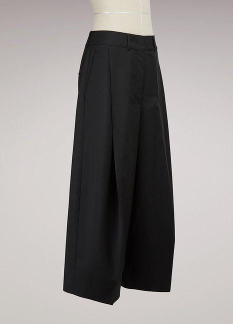 Jil Sander Wool and Mohair Culottes