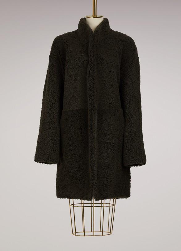 32 Paradis Sprung FrèresLigne reversible shearling coat