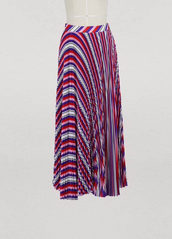MSGM Long pleated skirt