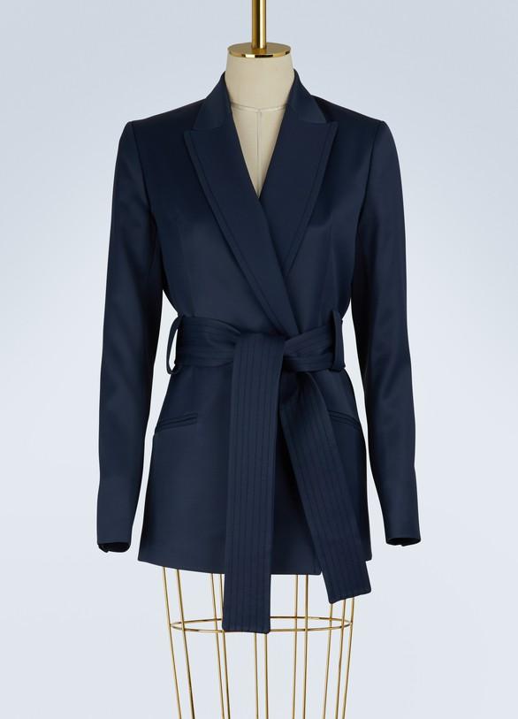 PallasSatin belted jacket