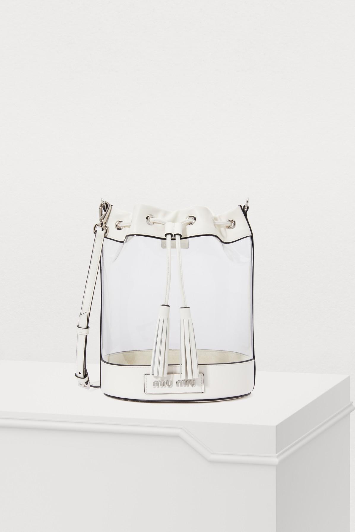 MIU MIU | Plexi Bucket Bag | Goxip