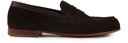 Jm Weston Le Moc' Loafers In Marron Fonce