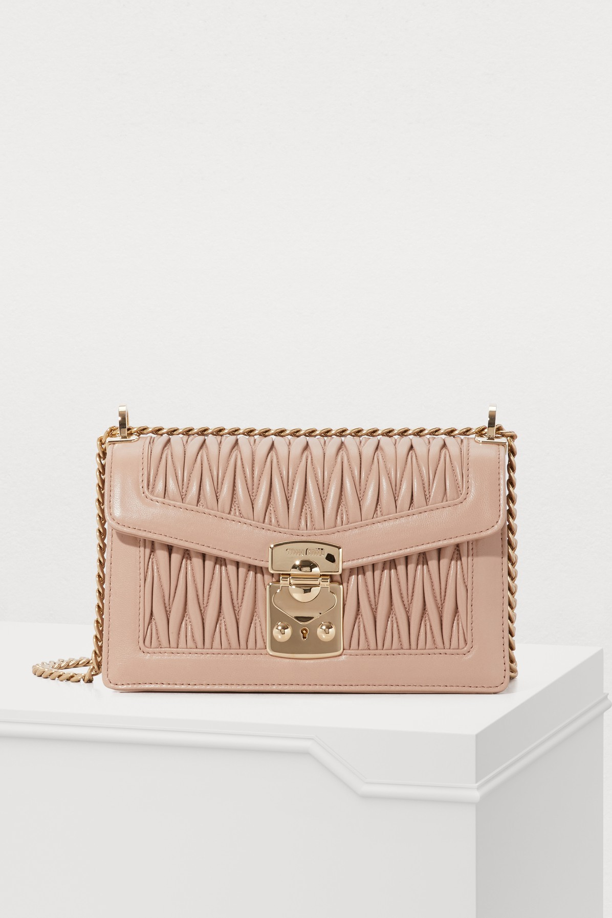 MIU MIU | Double Duffle Shoulder Bag | Goxip