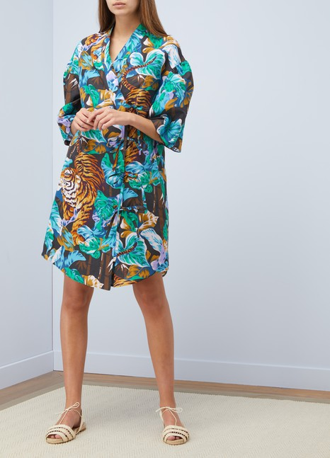 KenzoCotton short Kimono dress