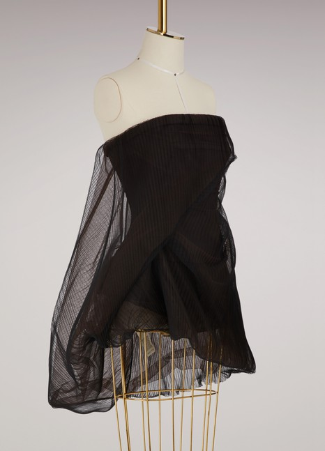Rick Owens Organza sleeveless top