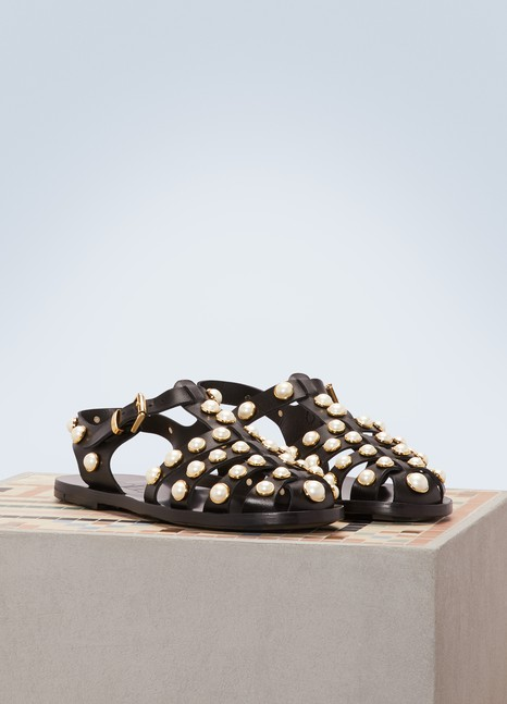 ColiacRick Gladiator leather sandals