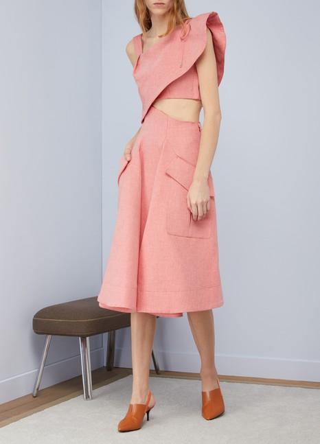 CarvenCotton and linen dress