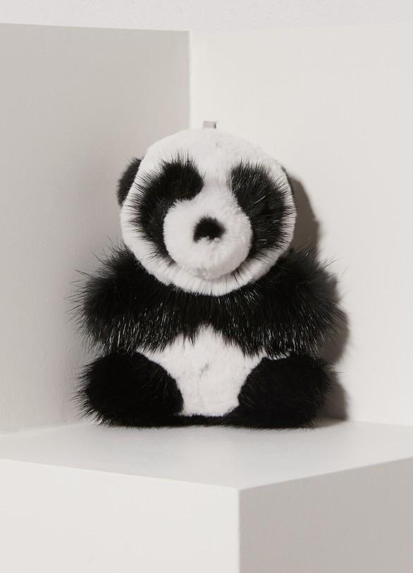 Loro Piana Panda mink fur keychain c17681ac5e