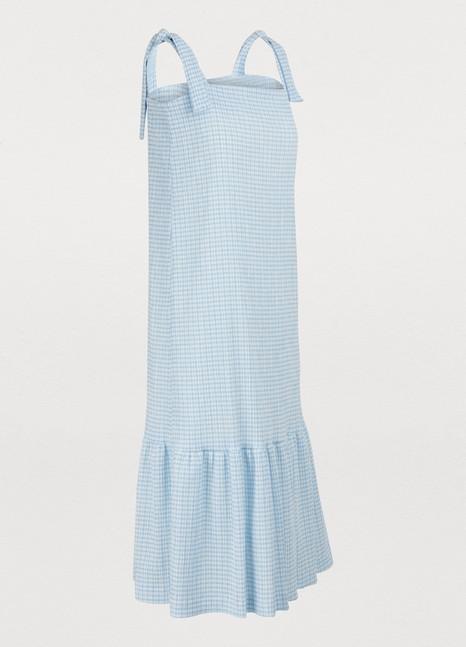HARRIS WHARF LONDONGingham midi dress