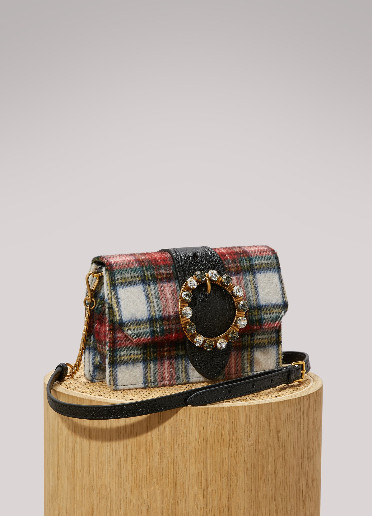MIU MIUTartan crossbody bag