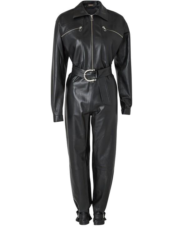 DODO BAR ORBarbara leather jumpsuit
