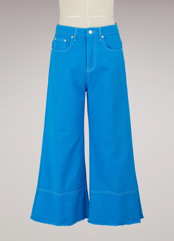 MSGMPantalon culotte en coton