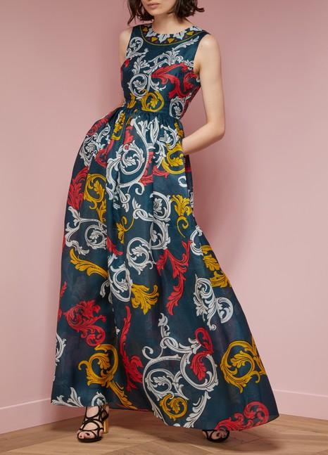 Mary KatrantzouShaw Silk Sleeveless Gown