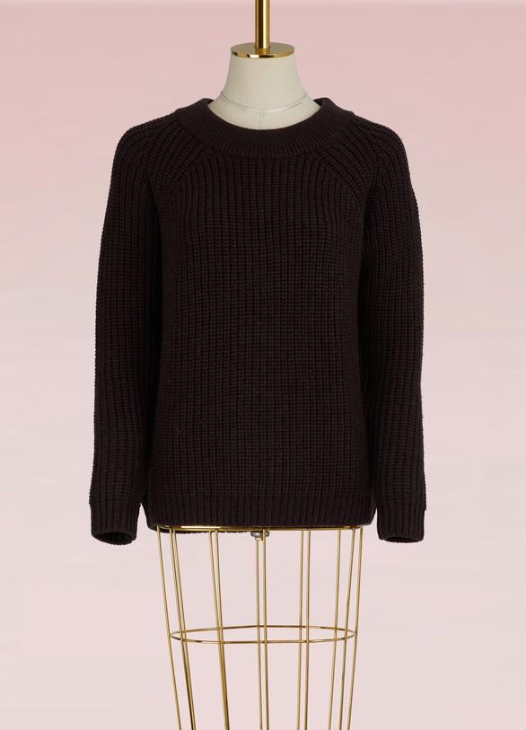 549dd718bc3a Le Bon Marché Pull col rond en laine mérinos