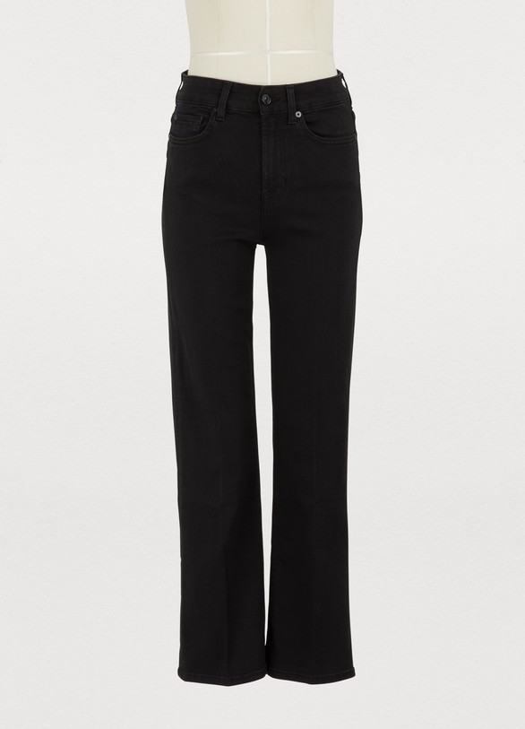 772953301b12 7 For All Mankind High-waisted vintage cropped bootcut jeans