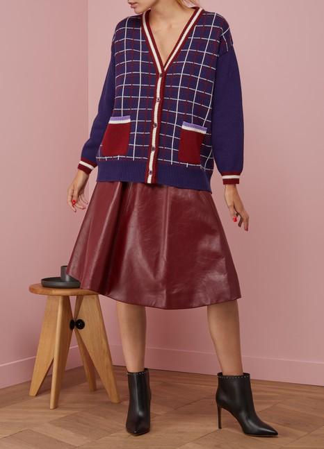 Miu MiuCardigan en laine à carreaux