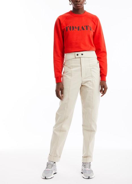 CLARE VRound-neck sweatshirt