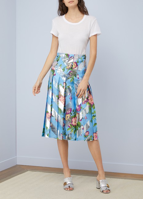 Gucci Bouquet d'Août pleated skirt