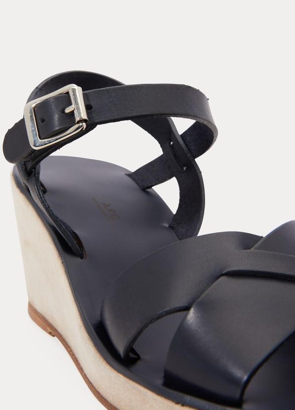 fbc8eab6159e A.P.C. Judith wedge-heeled sandals ...