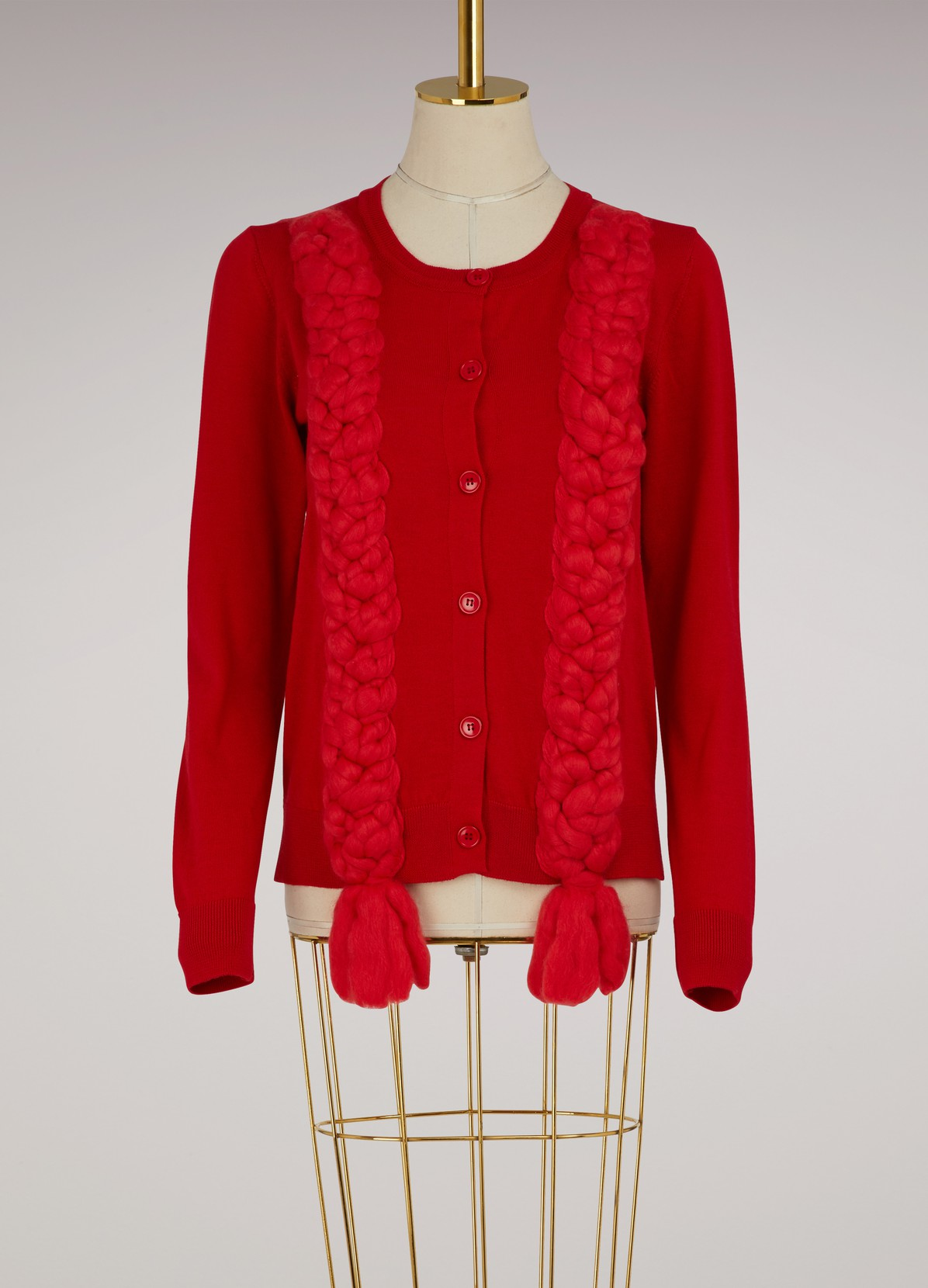 Felted plait wool cardigan | SIMONE ROCHA | 24 Sèvres
