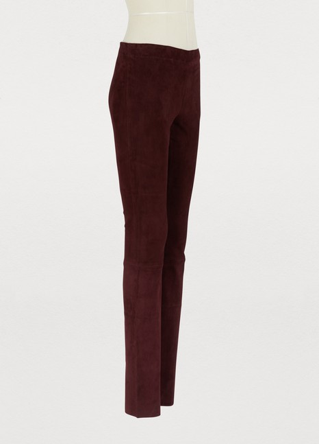 STOULS Jo suede leather leggings