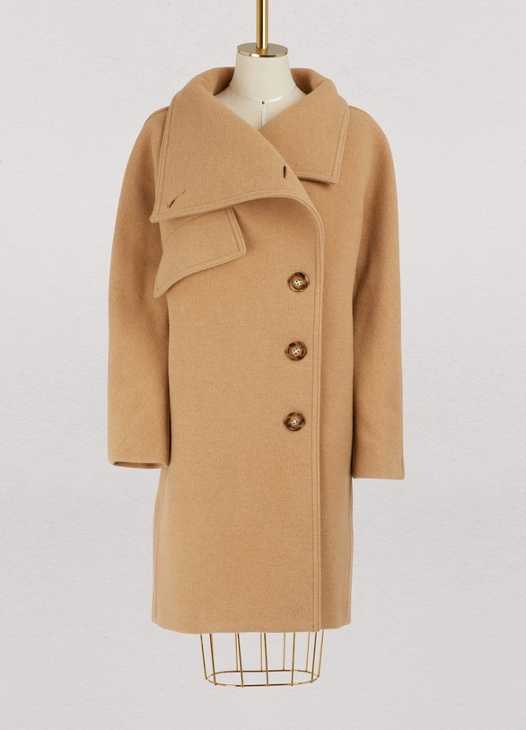 3741c609812f4 Acne Studios Funnel neck wool coat