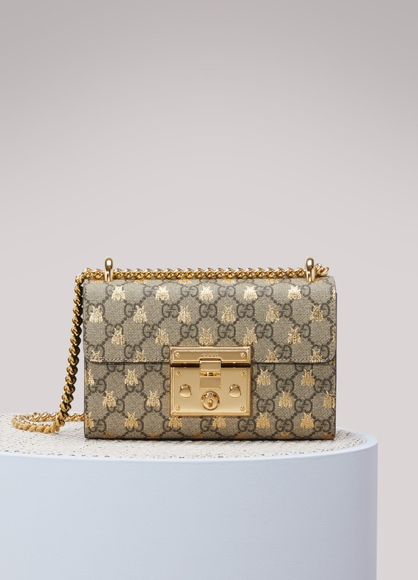 1f1dc0b95 Women's Padlock GG Supreme bees shoulder bag | Gucci | 24S | 24S
