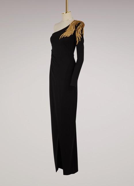 BalmainAsymmetrical maxi dress