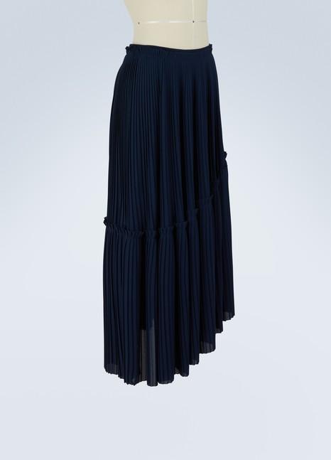 KenzoAsymmetric pleated skirt