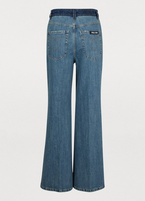 MIU MIU High-waisted jeans