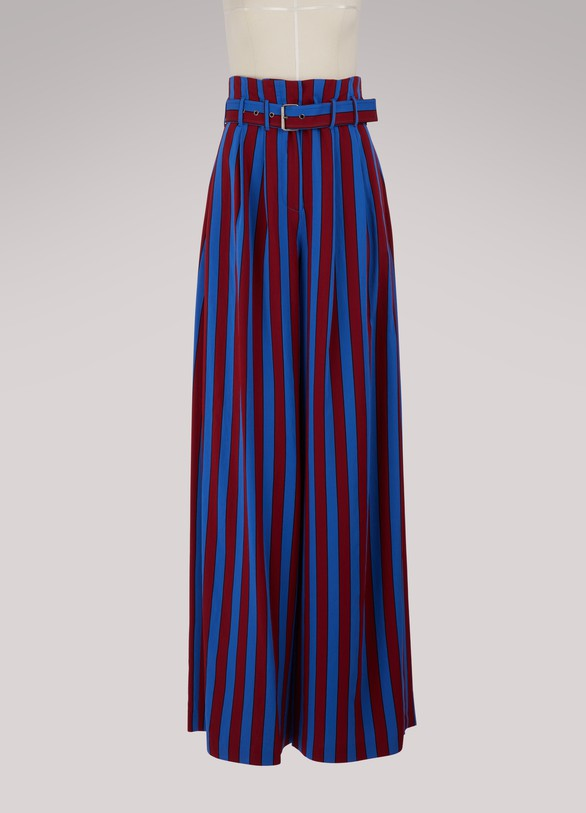 Maison Margiela Striped wide leg pants