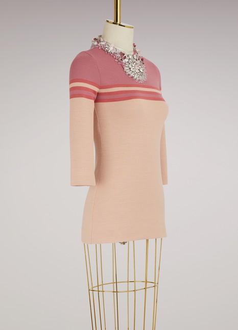 Miu MiuEmbroidered Wool Top
