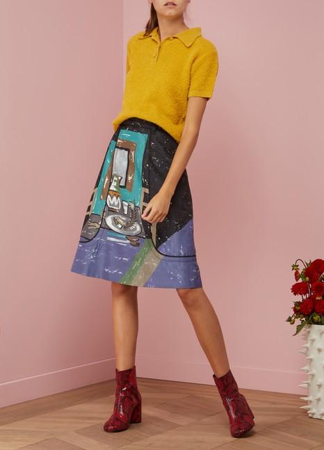 PradaSilk printed skirt