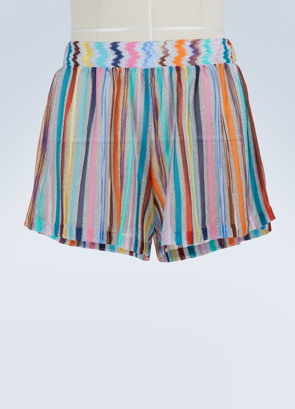 Missoni Lamé shorts