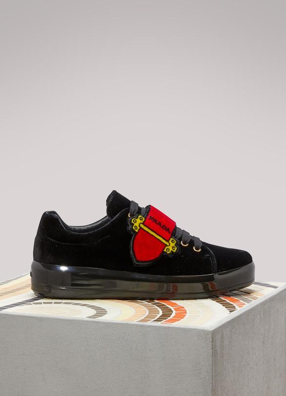 PRADASneakers en velours Cahier
