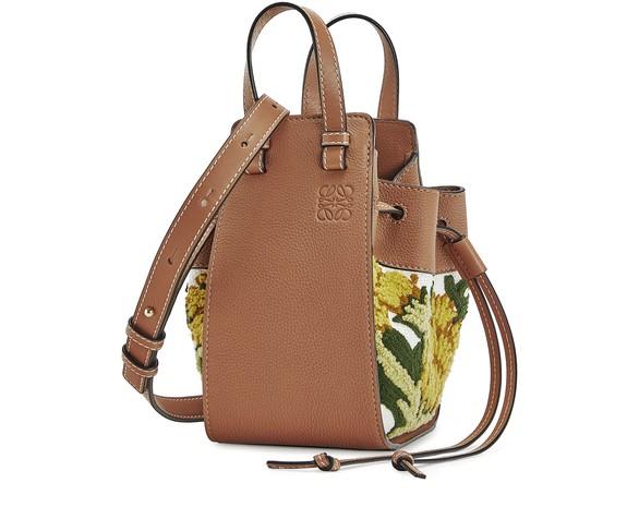 LOEWEHammock Drawstring Floral mini shoulder bag