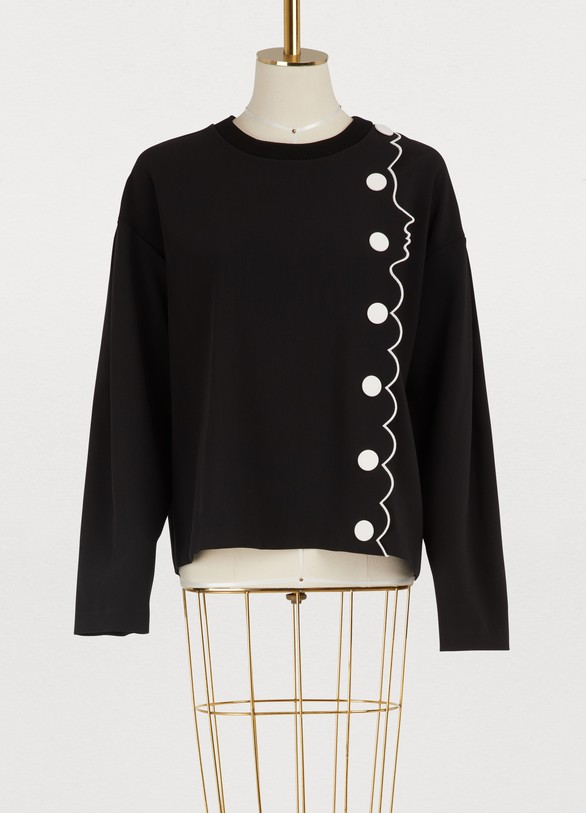 Vivetta Cotton face and buttons sweatshirt