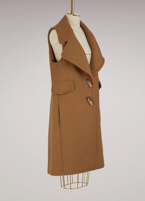 SEE BY CHLOEDuffle-coat sans manche en laine