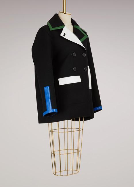 CourrègesMulticolored wool coat