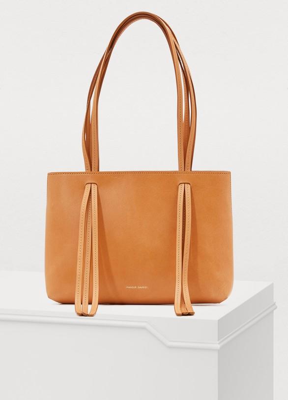 ea6e8ffc22af Mansur Gavriel Vegetable-tanned leather mini Fringe bag