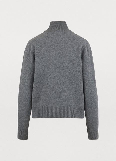 MAISON KITSUNEWoollen round-neck Fox sweatshirt