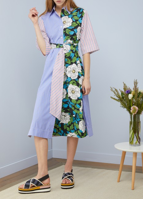 Diane Von Furstenberg 3/4 sleeved midi dress