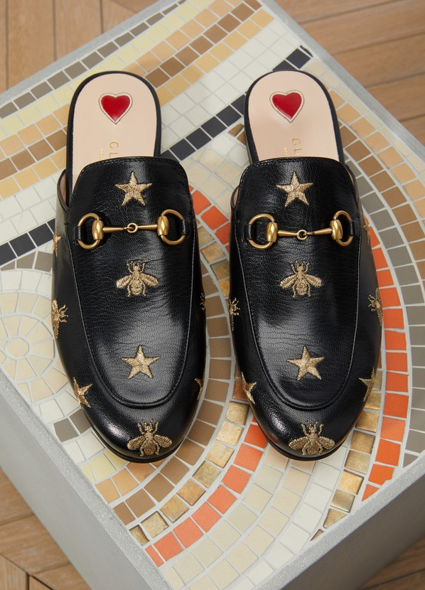 6388c4652 Women's Princetown Bee mules | Gucci | 24S | 24S