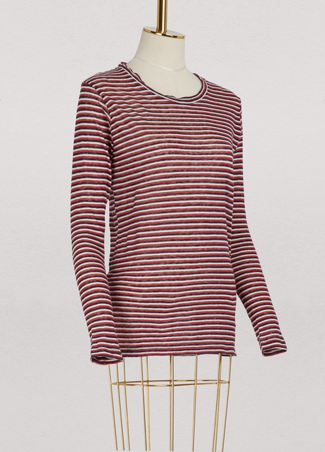 Isabel Marant Etoile Kaaron cotton and linen top